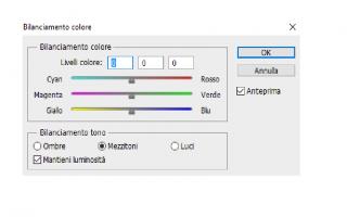 Bilanciamento colore photoshop
