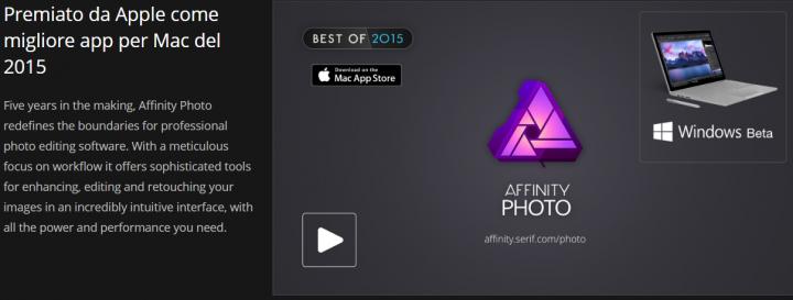 Affinity Photo Apple Award